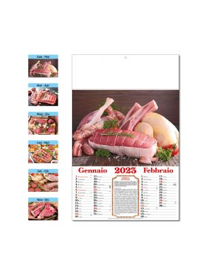 D007 CALENDARIO DAL MACELLAIO